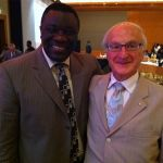 IDF President Professor Jean Claude Mbanya with Professor Paul Zimmet AO