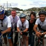 Launch of the 2012 Diabetes Tasmania Pollie Pedal were Greg Hall MLC, Launceston Mayor Albert Van Ze