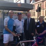 Guy with Kim Evans, Launceston Mayor Albert van Zetten and Mary Erickson of MND Tas