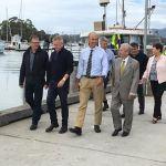 with Minister Rockliff at Triabunna