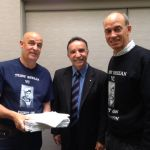 with Garry Ivory and Andrew Nikolic MP presenting 5000 petitions for Teddy Sheean