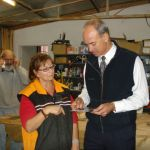 with Gillian at the Oatlands Community Men's Shed