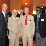 with Prof Jaakko Tuomilehto, Sir Michael Hirst and Jean Claude Mbanya